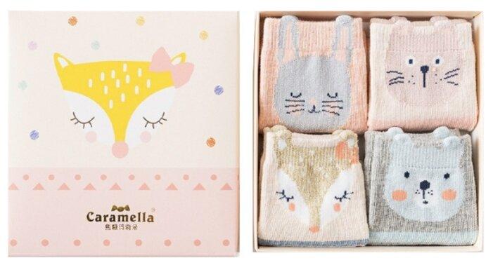 Носки Caramella размер 20-22, розовый/серый/голубой