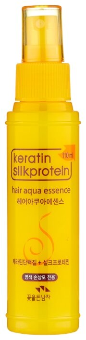 FLOR de MAN Увлажняющий флюид с кератином для волос Keratin Silkprotein Hair Aqua Essence