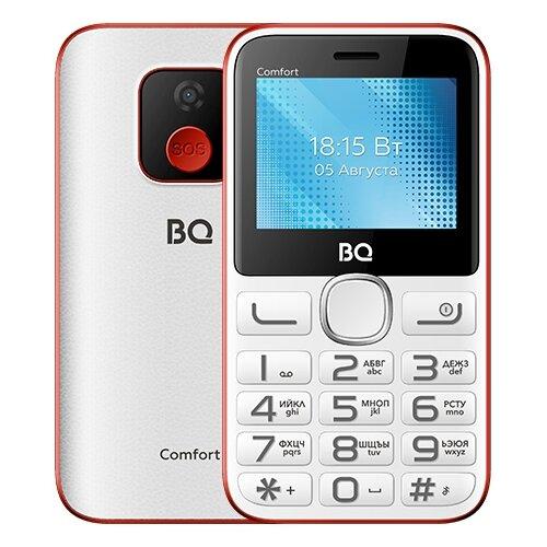 Телефон BQ 2301 Comfort, белый/красный сотовый телефон bq 2301 comfort red black