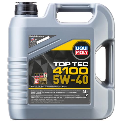 Фото - Полусинтетическое моторное масло LIQUI MOLY Top Tec 4100 5W-40 4 л полусинтетическое моторное масло liqui moly top tec 4200 diesel 5w 30 1 л