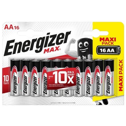 Фото - Батарейка Energizer Max AA/LR6 16 шт блистер батарейка duracell turbo max aa lr6 4 шт блистер