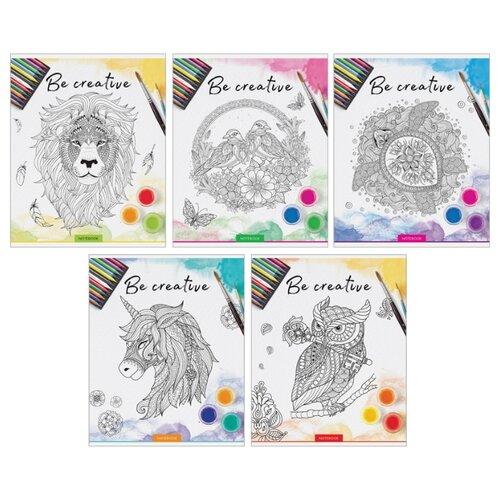 Купить ArtSpace Упаковка тетрадей Рисунки. Be creative Т48к_18838, 10 шт./5 дизайнов, клетка, 48 л., Тетради