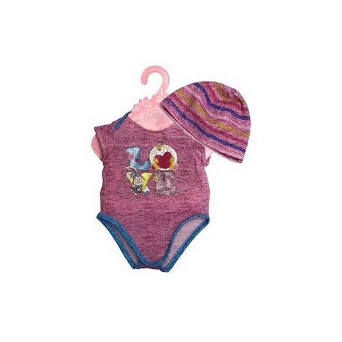 Купить Junfa toys Боди и шапочка для кукол 45 см розовый, Одежда для кукол