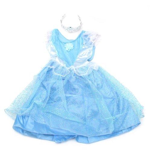 Костюм SNOWMEN Е92173, голубой/белый, размер 4-6 лет