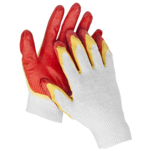 Перчатки STAYER Master 11409-S 2 шт. белый/красный