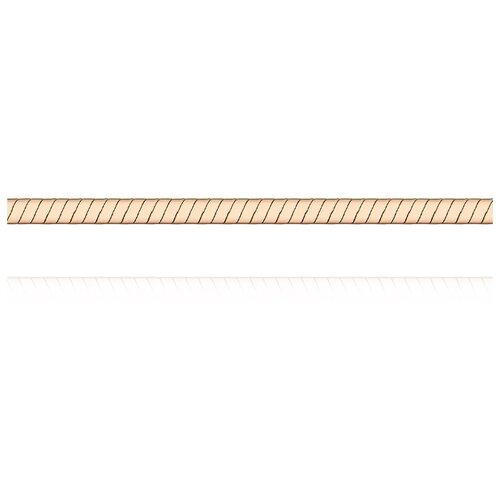 АДАМАС Цепь из золота плетения Панцирь одинарный ЦП150УКА1П-А51, 45 см, 8.5 г