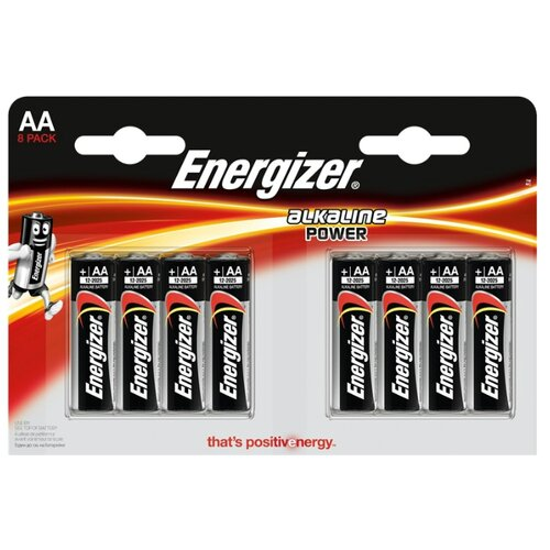 Фото - Батарейка Energizer Alkaline Power AA 8 шт блистер батарейка philips power alkaline aa 4 шт блистер