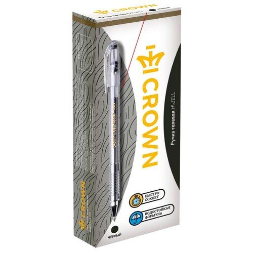 Купить CROWN Набор гелевых ручек Hi-Jell, 12 шт, 0.35 мм, черный цвет чернил, Ручки