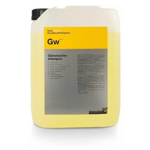 Нейтральный мультифункциональный концентрированный шампунь для ручной мойки с защищающими компонентами для автомобильного лака GLANZWACHSSHAMPOO - рН Koch Chemie 10 л