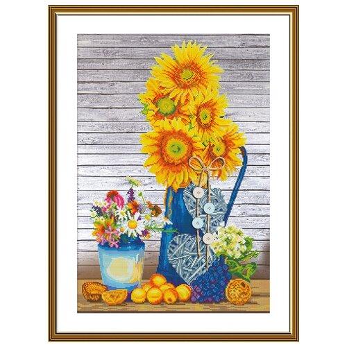 Купить Набор для вышивания Нова Слобода СР №26 2257 Солнце в вазе 28х42см, NOVA SLOBODA, Наборы для вышивания