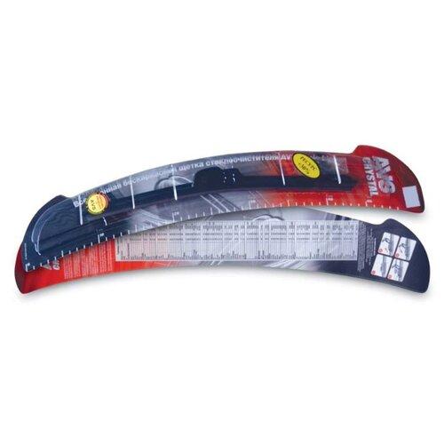Фото - Щетка стеклоочистителя бескаркасная AVS Basic Line BL-23 580 мм, 1 шт. щетка стеклоочистителя бескаркасная avs multi cap 5 в 1 mc 17 430 мм 1 шт
