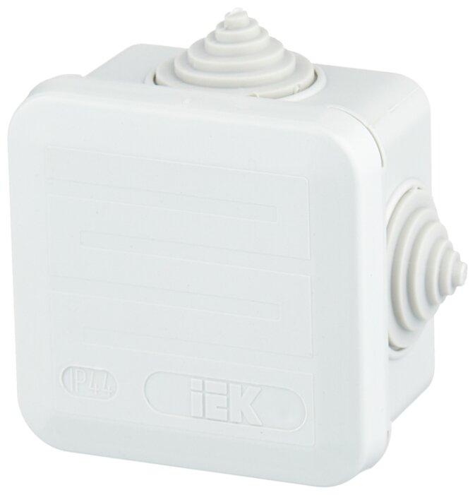 Распределительная коробка IEK КМ41236 наружный монтаж 70x70 мм