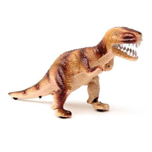Купить Тиранозавр «Рекс» работает от батареек, световые и звуковые эффекты, бежевый, Сима-ленд, Роботы и трансформеры