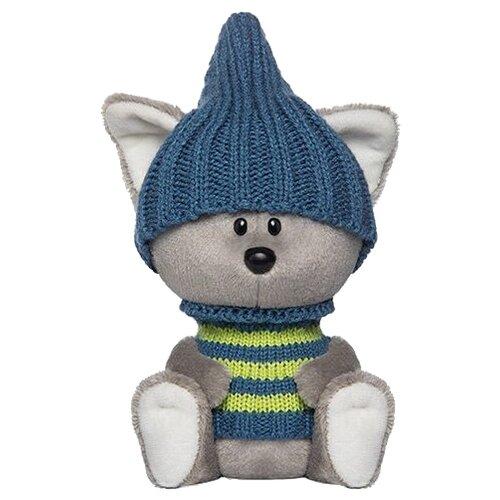 Фото - Мягкая игрушка Лесята Волчонок Вока в шапочке и свитере 15 см мягкая игрушка лесята ёжик игоша в свитере 15 см