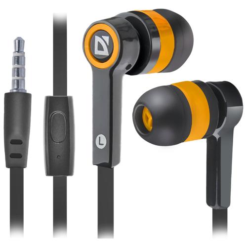 Купить Наушники Defender Pulse-420 черный/оранжевый