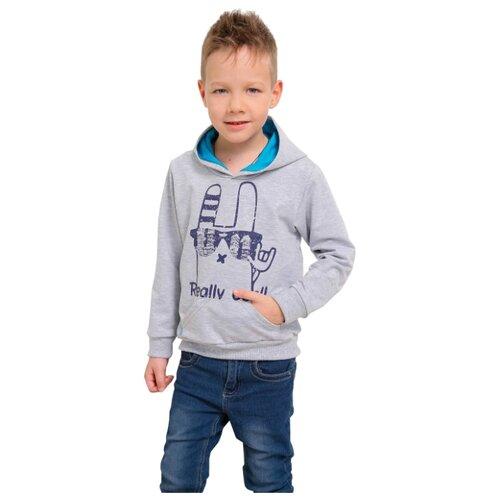 Худи looklie размер 98-104, серый комплект одежды looklie размер 98 104 изумрудный
