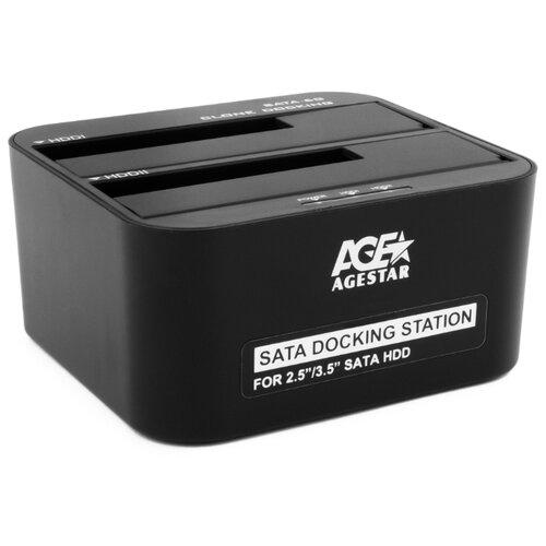 Док-станция для HDD/SSD AGESTAR 3UBT6-6G черный док станция для hdd agestar 3ubt черный