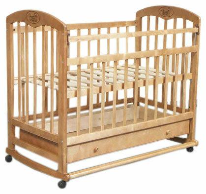 Кроватка Наша мама Валерия (качалка), на полозьях