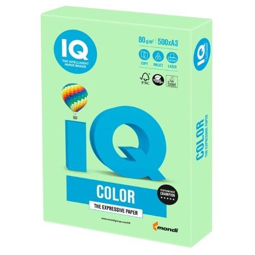 Фото - Бумага IQ Color A3 80 г/м² 500 лист. зеленая пастель MG28 1 шт. бумага iq color а4 color 120 г м2 250 лист кораллово красный co44 1 шт