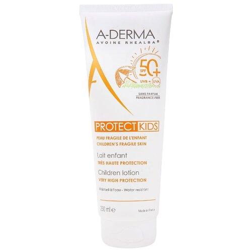 A-Derma Protect Kids cолнцезащитный лосьон для детей SPF 50+ 250 мл derma косметика