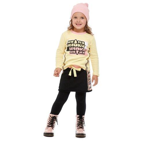 Купить Лонгслив lucky child размер 30 (116-122), желтый, Футболки и майки