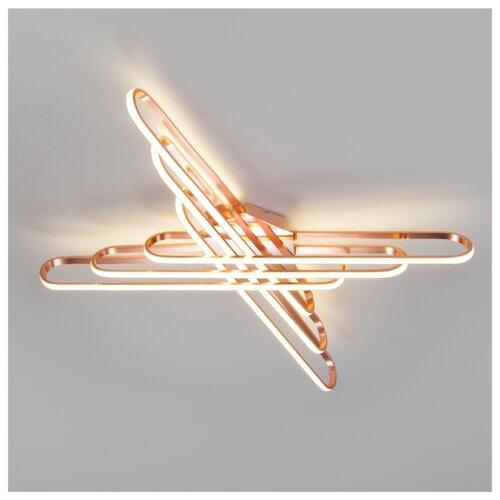 Светильник светодиодный Eurosvet Staple 90133/6 розовое золото, LED, 156 Вт светильник светодиодный eurosvet range 40005 1 кофе led 54 вт