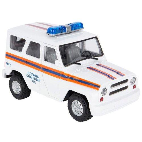 Грузовик Play Smart УАЗ Hunter Служба спасения (9076-F) 18 см белый грузовик play smart автопарк урал аварийная служба 9464a 25 см оранжевый