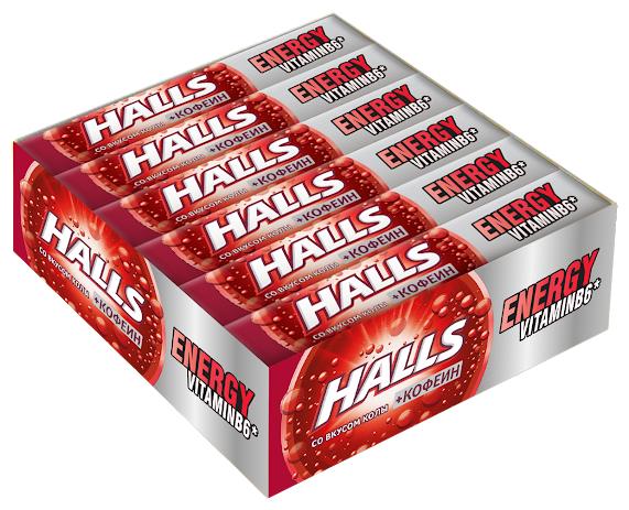 Леденцы Halls Energy Кола 12 шт.