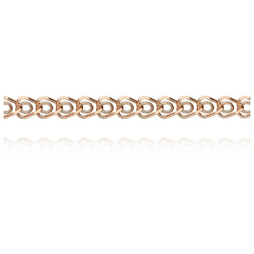 АДАМАС Цепь из золота плетения Сердце ЦС150А2-А51, 50 см, 6.36 г