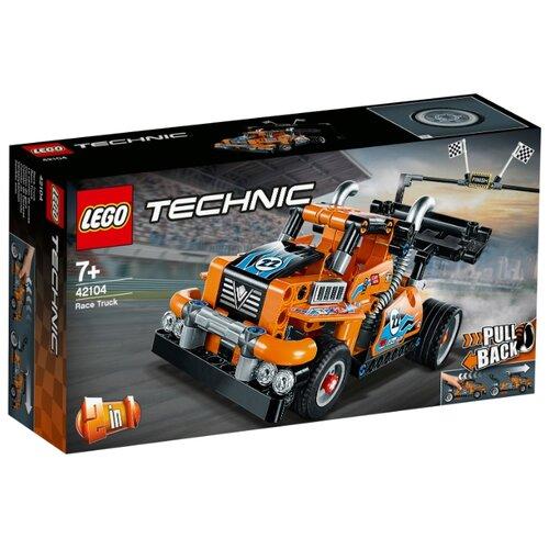 Конструктор LEGO Technic 42104 Гоночный грузовик конструктор lego technic гоночный автомобиль 1005 элементов