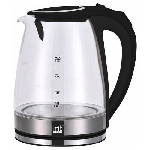 Чайник irit IR-1235, silver/black чайник irit ir 1336 2l