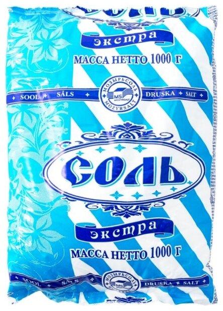 Полесье Соль поваренная пищевая экстра, 1000 г