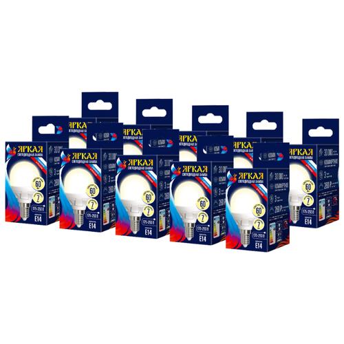 Упаковка светодиодных ламп 10 шт Uniel LED WW/FR PLP01WH картон, E14, G45, 7Вт упаковка светодиодных ламп 10 шт uniel led nw fr plp01wh картон e27 a60 10вт