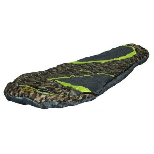 Спальный мешок NORFIN Scandic Plus 350 зеленый/серый/камуфляж с правой стороны