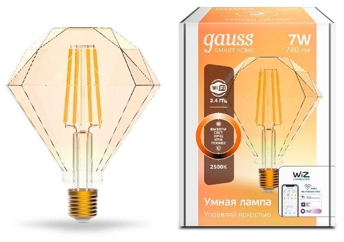 Лампа светодиодная gauss 1350112, E27, 7Вт фото 1
