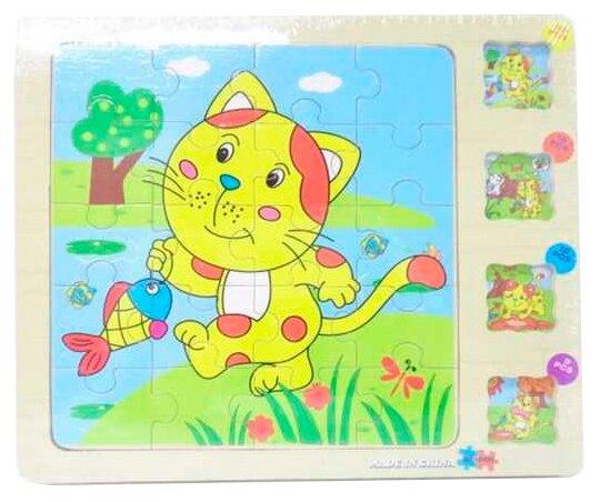 Набор рамок-вкладышей Junfa toys Деревянные (DX-D403)