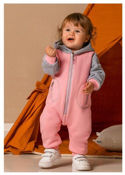 Купить Комбинезон Лапушка размер 80, розовый по низкой цене с доставкой из Яндекс.Маркета