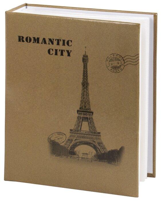 """Фотоальбом BRAUBERG на 200 фото 10х15 см, твердая обложка, """"Париж"""", бежевый"""
