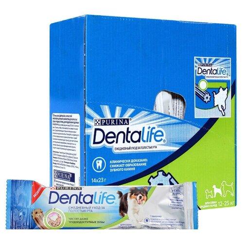 Лакомство для собак Dentalife Уход за полостью рта для средних пород, 23 г х 14 уп. (шоу бокс)
