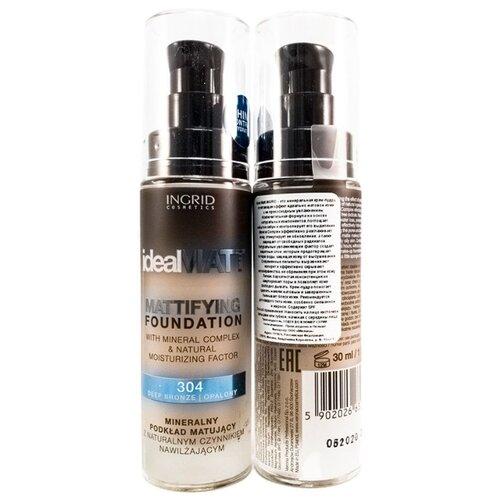 Ingrid Cosmetics Минеральная крем-пудра Ideal Matt 304 тональный крем ingrid mineral matt тон 304 песочный