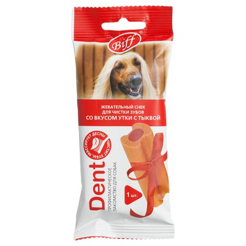 Лакомство для собак Titbit DENT со вкусом утки и тыквы для крупных пород, 75 г titbit лакомство вяленое для собак кусочки легкого бараньего уп 60 г