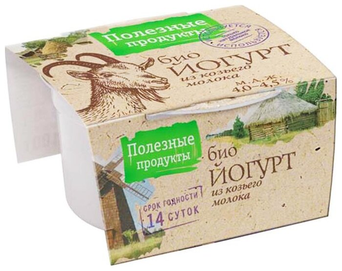 Йогурт Полезные Продукты из козьего молока 4.5%, 100 г