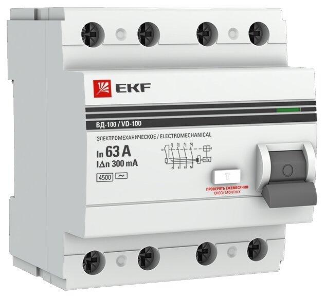 УЗО EKF 300мА тип AC ВД-100 4 полюса