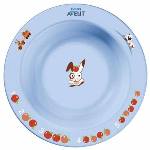 Купить Тарелка Philips AVENT SCF706/01 голубой/розовый, Посуда