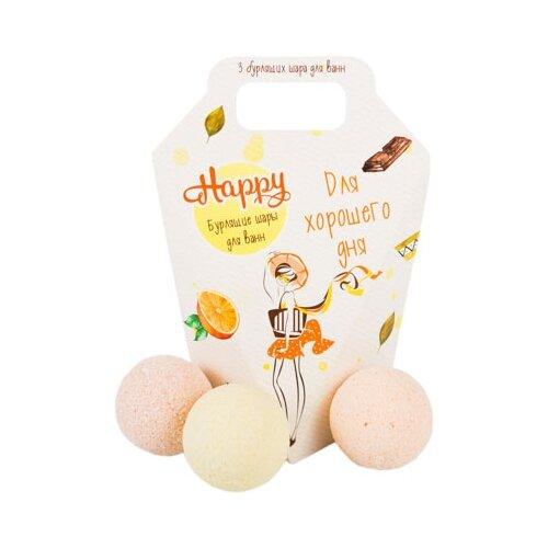 Лаборатория Катрин Набор бурлящих шаров Happy Для хорошего дня, 120 г