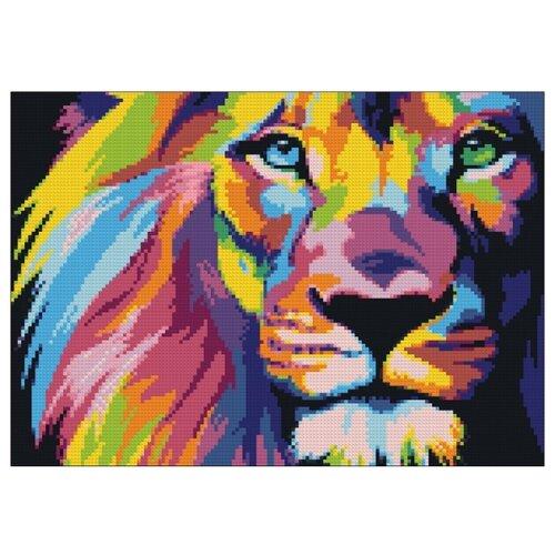 Фото - Гранни Набор алмазной вышивки Радужный лев (Ag 444) 27х38 см гранни набор алмазной вышивки радужный слон ag 482 27х38 см