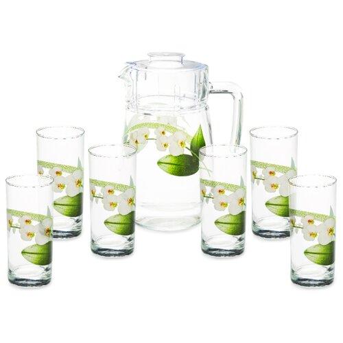 Набор Luminarc White Orchid кувшин + стаканы 7 предметовКувшины и графины<br>