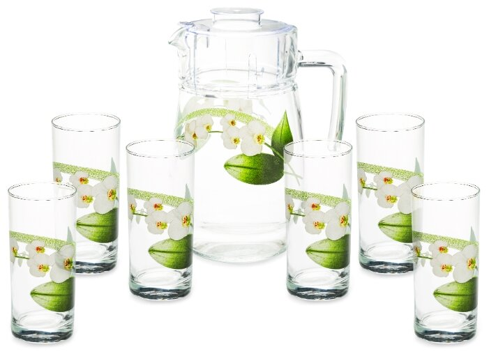 Набор Luminarc White Orchid кувшин + стаканы 7 предметов