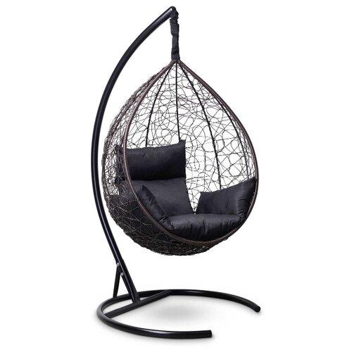 Подвесное кресло-кокон Laura Outdoor Sevilla, коричневый/черный