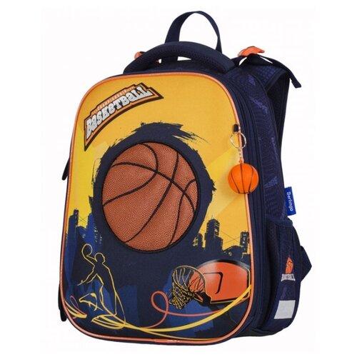 Berlingo ранец Expert Basketball, синий/оранжевый юнландия ранец extra sports ball 228802 синий оранжевый